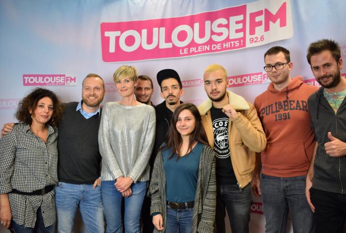 Des auditeurs de Toulouse ont pu également rencontrer le duo dans les studios de Toulouse FM