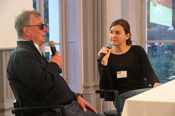 Bernard Defebvre, secrétaire général du CTA de Lille (à gauche) intervient régulièrement auprès des radios locales.