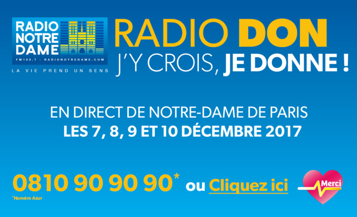 "Radio Notre Dame organisera aussi son ""Radio Don"""