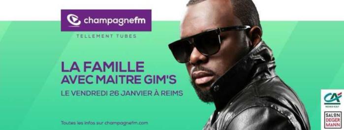 Maître Gims invité de Champagne FM