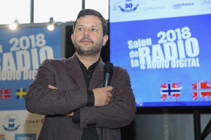 Bruno Laforestrie, directeur de Mouv', est venu expliquer sa vision de la radio et notamment celle de Mouv' © Serge Surpin / La Lettre Pro
