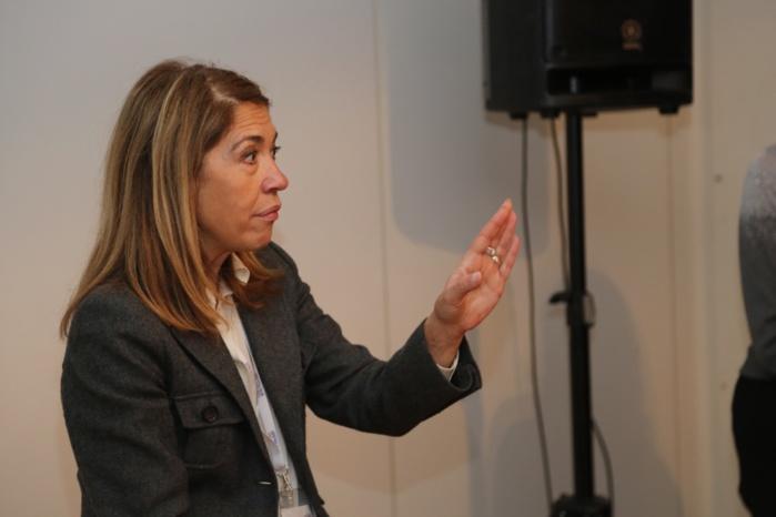 Marie-Christine Saragosse, présidente de France Médias Monde, a animé une Masterclass Pôle Emploi © Serge Surpin / La Lettre Pro