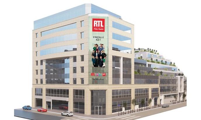 Le nouveau siège de RTL est situé en face de celui du groupe M6.