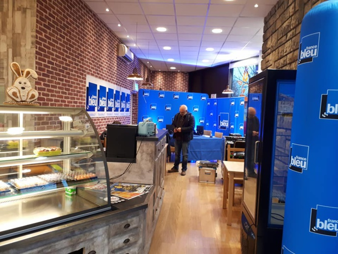 France Bleu Besançon s'est installée dans une boulangerie