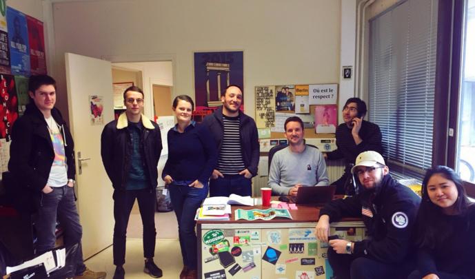 L'équipe Radio Campus Dijon : Anthony, Victor, Valentine, Julien, Pierre-Olivier, Martial, Léo, Héléna