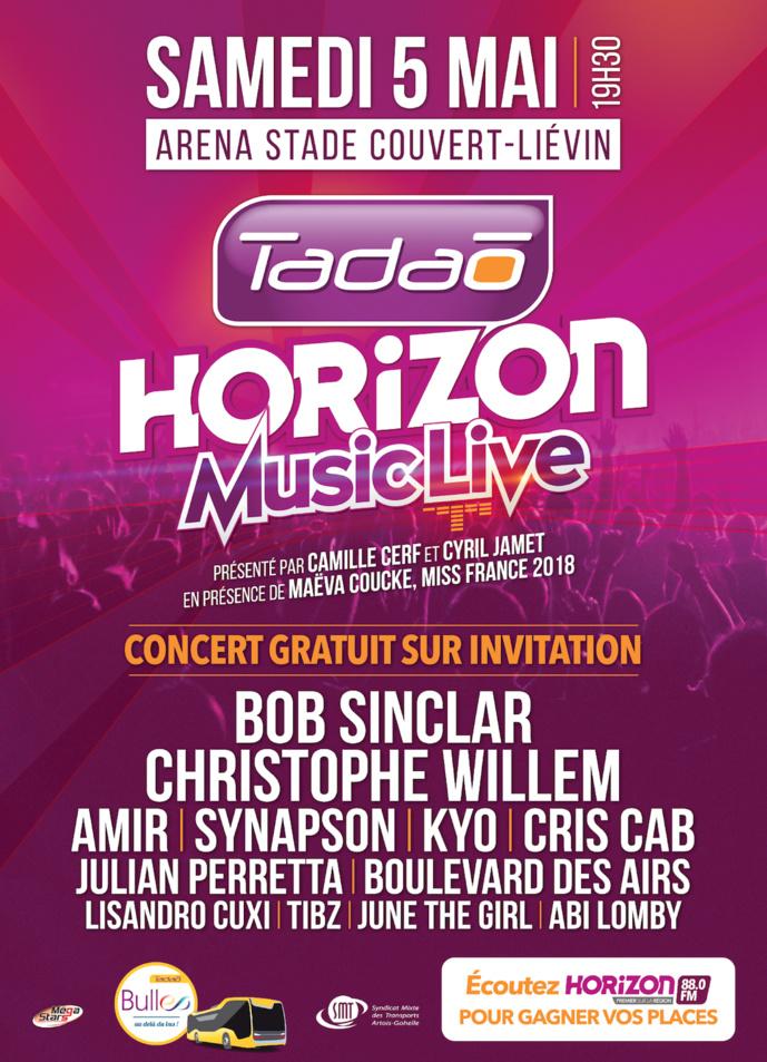 """Le concert gratuit """"Tadao-Horizon Music Live"""" à Liévin"""