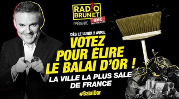 "RMC va attribuer le ""Balai d'Or"" dans ""Radio Brunet"""