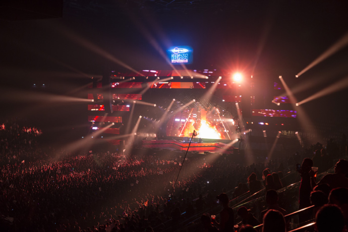 La 2ème édition de la Fun Radio Ibiza Experience a rassemblé 17.000 spectateurs en avril 2017 à Paris. ©Frederic Bukajlo, Sipa Press / Fun Radio