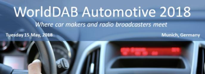 Le WorldDAB organise le WorldDAB Automative 2018