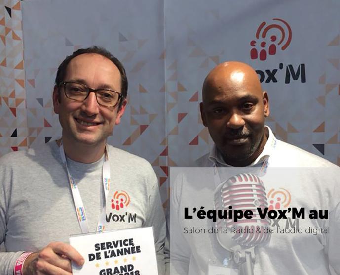 En janvier dernier, Franck Lecoq et Bruno Seguin de Vox'M ont remporté le Prix du Service de l'année au Salon de la Radio.