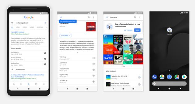 L'application Podcast est intégrée à Google