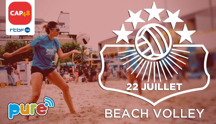 "La radio Pure (RTBF) organise le ""Pure Beach Volley"""