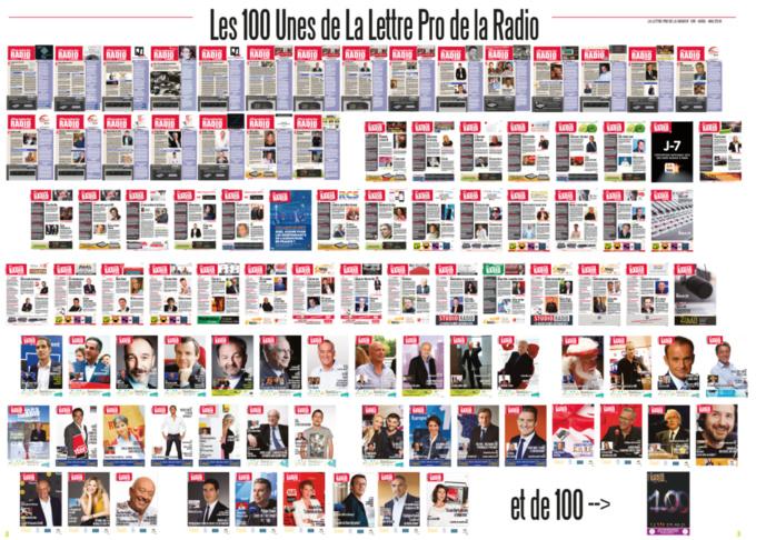 Les 100 Unes de La Lettre Pro de la Radio