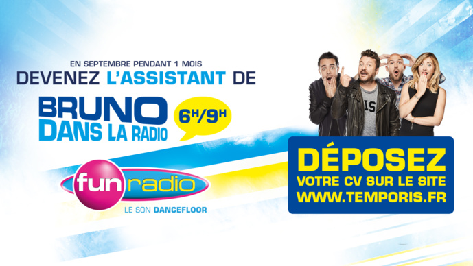 Fun Radio et Temporis s'associent pour recruter un nouvel assistant