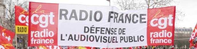 La CGT Radio France appelle à cesser le travail ce samedi 26 mai © CGT Radio France
