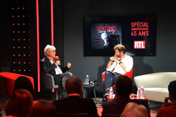 Georges Lang et Eric Jean jean lors des 45 ans des Nocturnes la nuit dernière sur RTL © Kervin Portelli