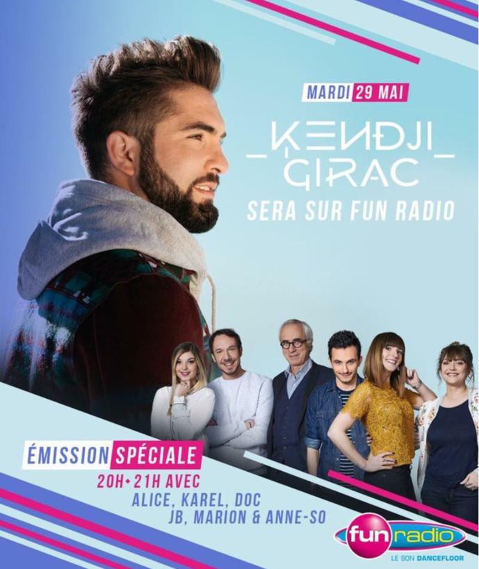 Fun Radio reçoit Kendji Girac