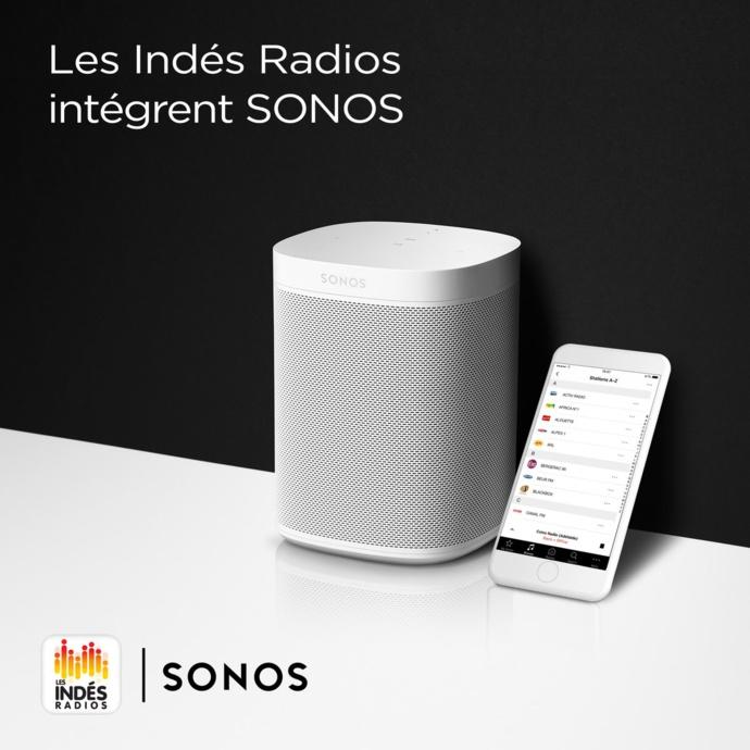 Les 131 radios des Indés Radios intègrent Sonos