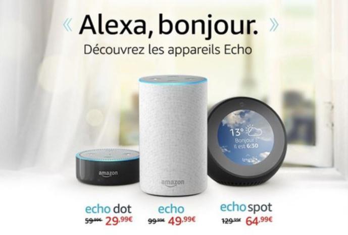Amazon casse les prix pour le lancement d'Echo en France