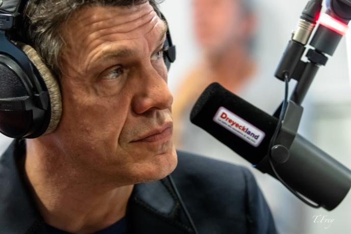 Marc Lavoine dans les studios de Radio Dreyeckland