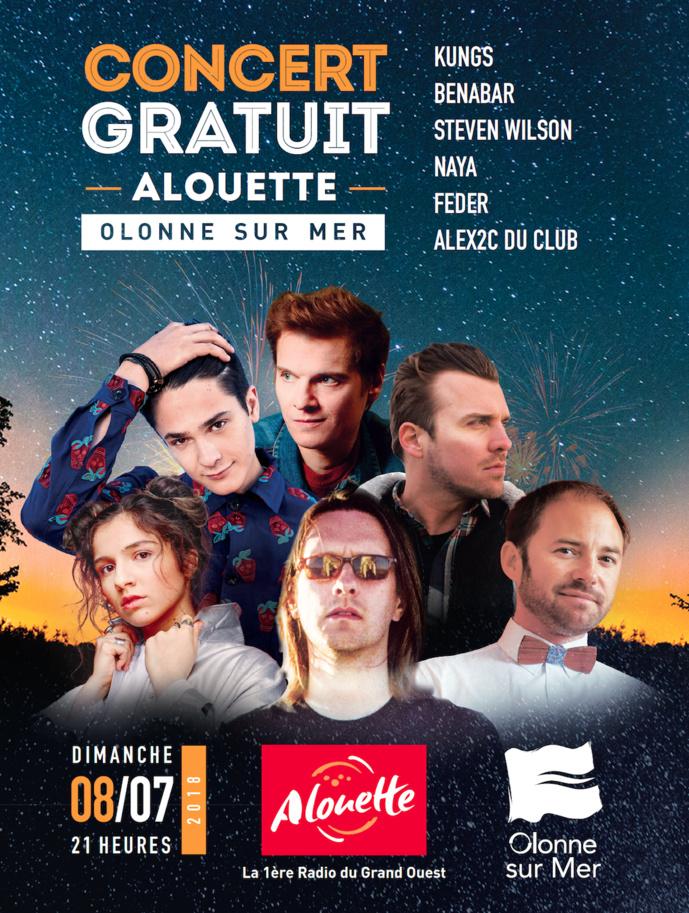 Grande affiche pour un grand concert avec Alouette
