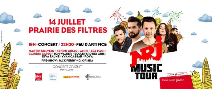 Le NRJ Music Tour fait étape à Toulouse le 14 juillet