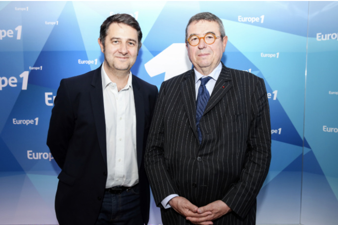 Laurent Guimier, patron d'Europe 1 et Denis Mollat