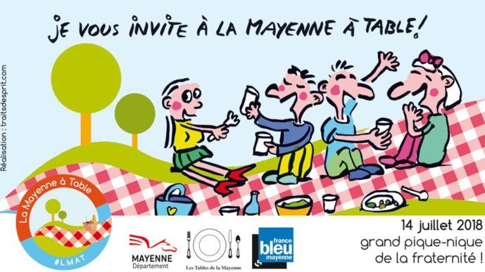 Un grand pique-nique organisé par France Bleu Mayenne