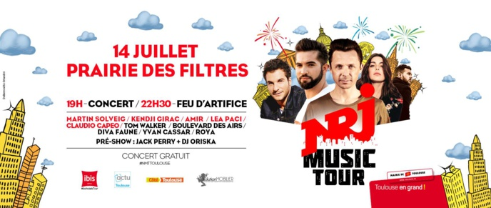 Le NRJ Music Tour fait étape à Toulouse ce 14 juillet