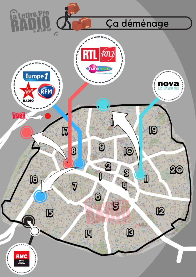 Ça déménage à Paris - Infographie