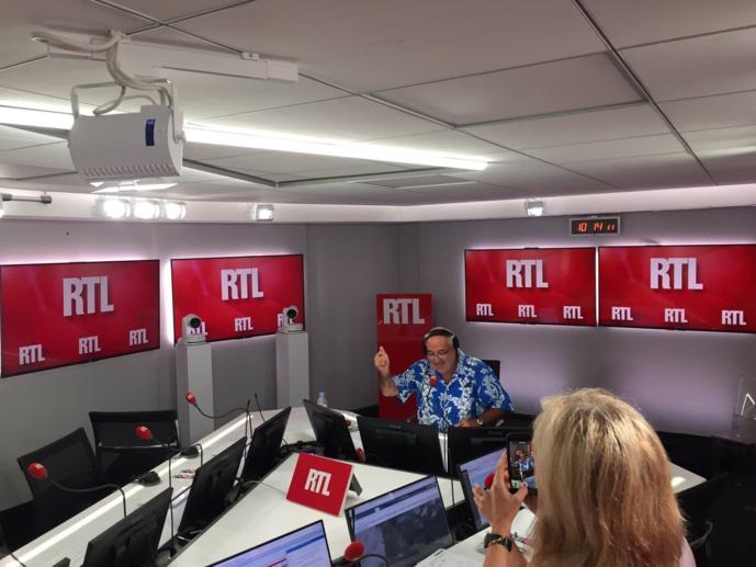 La dernière de Benard Poirette à RTL ce dimanche / Photo Twitter Philippe Corbé
