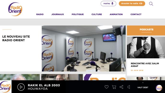 Un nouveau site web pour Radio Orient