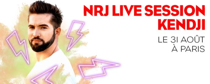 Un concert NRJ Live Session avec Kendji Girac