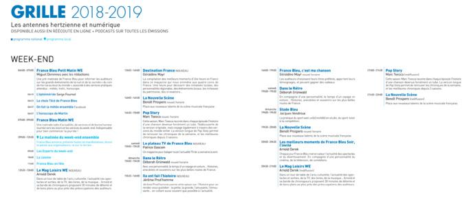 Voici la nouvelle grille des programmes de France Bleu