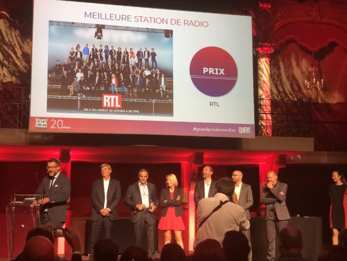 Meilleure station de radio de l'année pour RTL, couronnée pour la deuxième année consécutive / Photo François Quairel