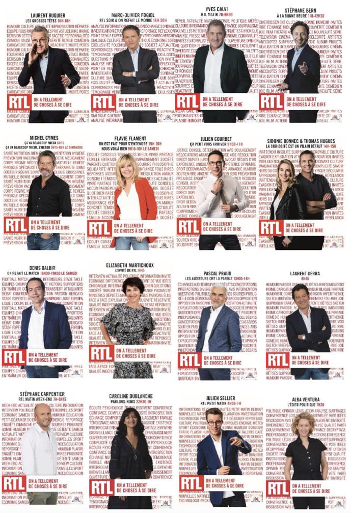 """Nouvelle signature pour RTL : """"On a tellement de choses à se dire"""""""