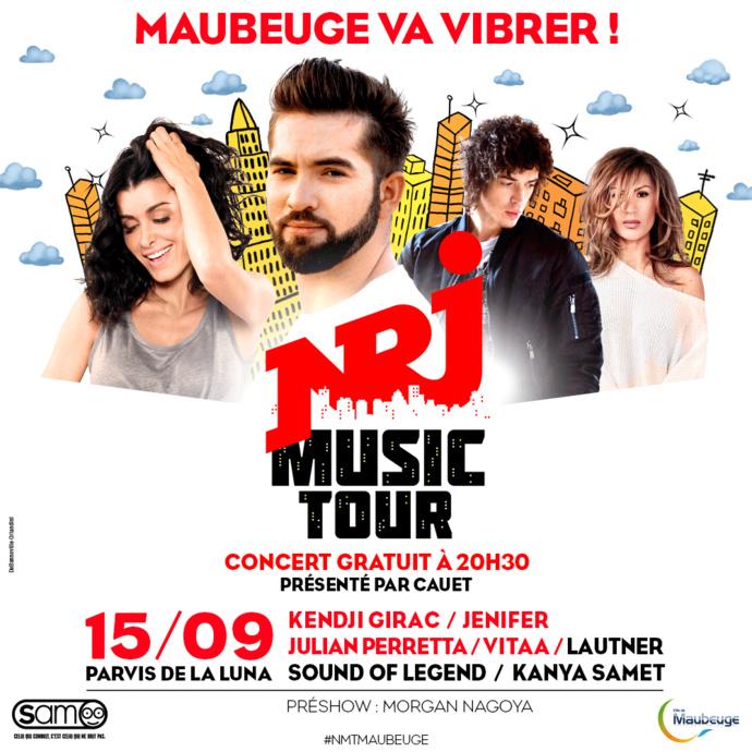Maubeuge accueille une étape du NRJ Music Tour