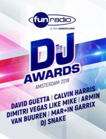 Les votes sont ouverts pour les Fun Radio DJ Awards
