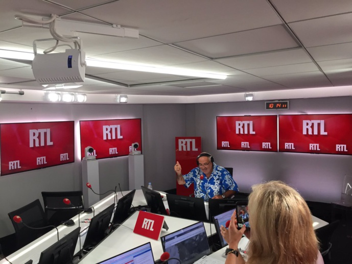 La dernière de Benard Poirette à RTL le dimanche 5 août / Photo Twitter Philippe Corbé