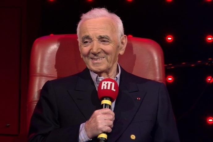 Charles Aznavour était aussi un habitué des studios de la Rue Bayard chez RTL © RTL