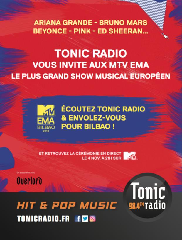 Tonic Radio invite ses auditeurs aux MTV EMA