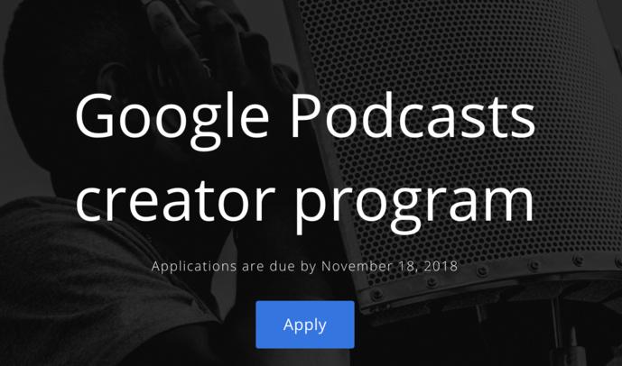 Google lance un programme pour les créateurs de podcasts