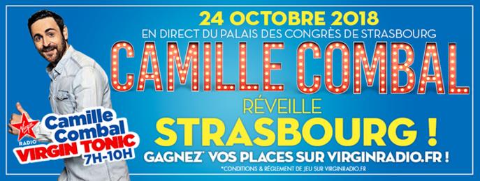 Camille Combal va réveiller Strasbourg sur Virgin Radio.