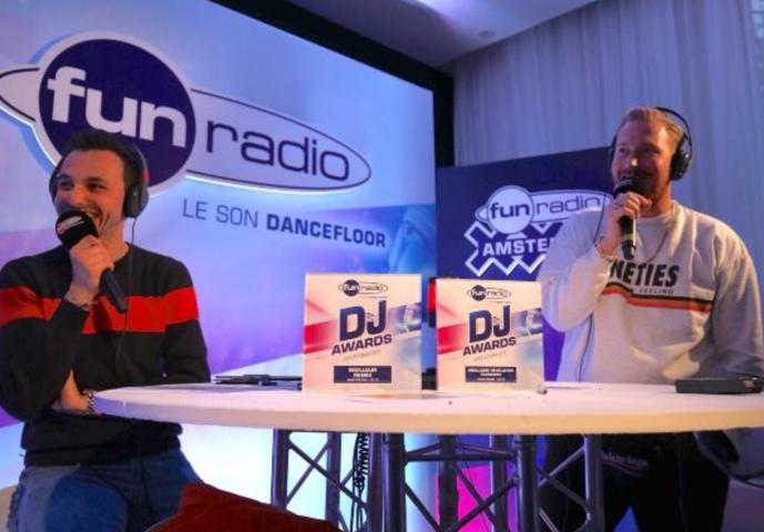 JB et Hugel, le grand gagnant de l'édition 2018 des Fun radio DJ Awards qui repart avec deux prix