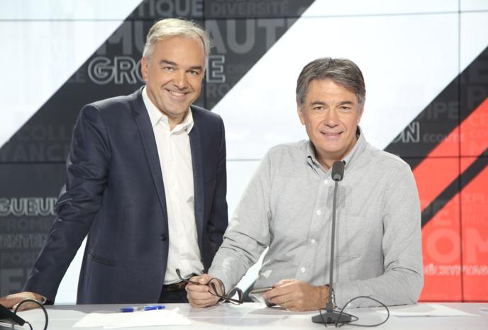 15 ans après son lancement, l'émission Les GG réunit 1,7 million d'auditeurs chaque matin sur RMC et 800000 à la télévision. / Crédit Photo RMC