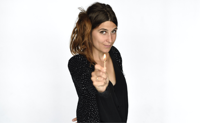 Nathalie Piolé, productrice de l'émission quotidienne Banzzaï sur France Musique. Photo RF Christophe Abramowitcz