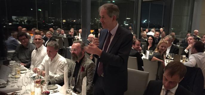 Patrick Hannon est le président du WorldDAB qui tient actuellement son Assemblée général à Berlin © Philippe Chapot / La Lettre Pro de la Radio