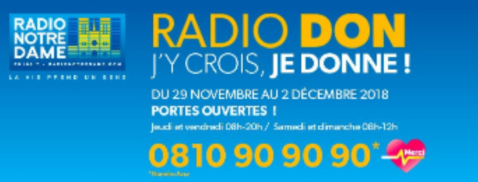 Radio Notre Dame organise son Radio Don