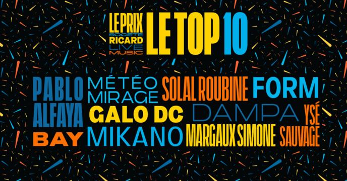 Le Top 10 du Prix Société Ricard Live Music 2019