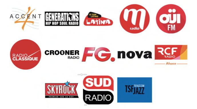 Zone Étendue : Département du Bas-Rhin et du Haut-Rhin / 13 radios